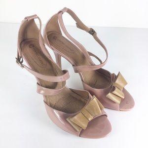 Corso Como Women Blush Pink Brown Bow Pink Heels